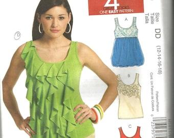 McCalls 5853 uncut size 12 - 18 womans blouse/top