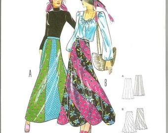 Burda 6965 new uncut size 10 20 womans bias seamed long skirt