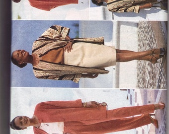 SALE  Butterick 4502 uncut size 14, 16 and 18 - 4 piece skirt, pants, tank top and jacket