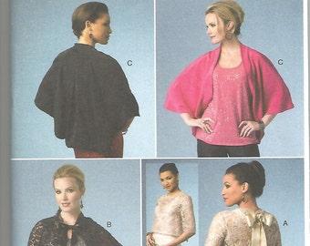 Butterick 5992 new uncut size X small - medium womans cape - shrug