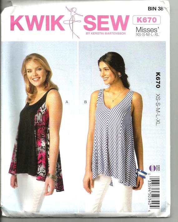 Kwik Sew 670 uncut size Xs X large womans top designed for | Etsy