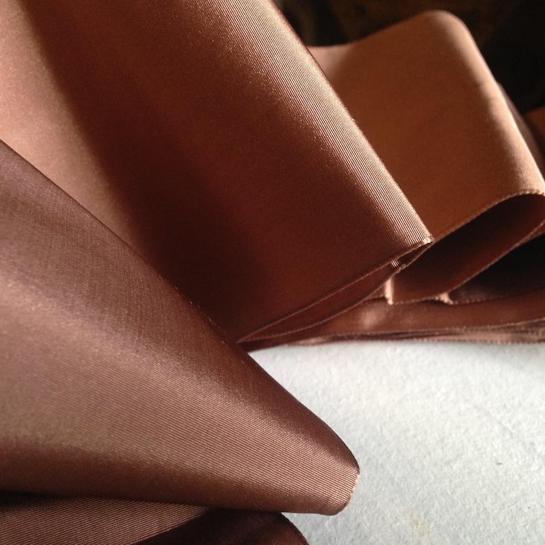 5 YARDS ROLL antique Bois de Rose  wide silk taffet\u00e0 ribbon