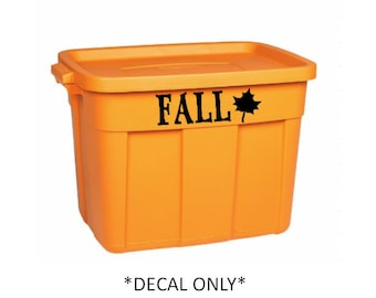 Fall storage bin decal, Storage container decal, decal for storage, holiday storage, holiday labels, organization, fall, container decal
