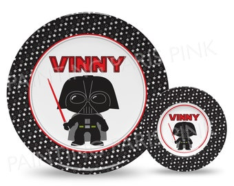 """Dark Villain Personalized 10"""" Plate, Bowl or 2 Piece Set 