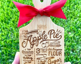 MINI Charcuterie Cutting Board Decor | Kitchen | Tiered Tray Decor | Apple Pie | Christmas or Thanksgiving Holiday