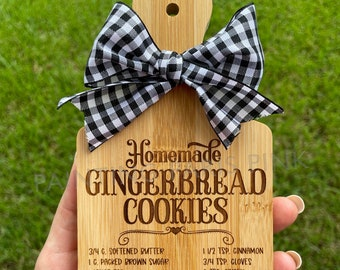 MINI Charcuterie Cutting Board Decor | Kitchen | Tiered Tray Decor | Gingerbread Cookies | Christmas Holiday