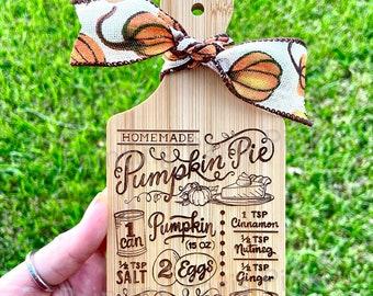 MINI Charcuterie Cutting Board Decor | Kitchen | Tiered Tray Decor | Pumpkin Pie | Thanksgiving Holiday