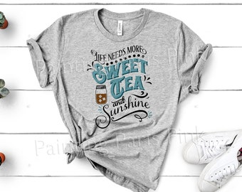 f2300369d Sweet Tea And Sunshine Bella Canvas Unisex Tee Shirt | DTG Printing |  Summertime | Southern Sass | Free Shipping to US