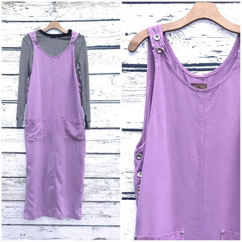 81353b9bb6c Vintage 90 s Dress Purple Jumper Minimalist Overalls Dress