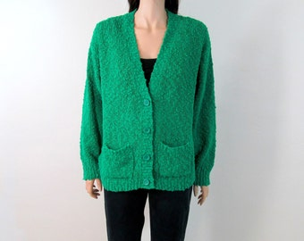 Vintage 80's Sweater Large 80's Cardigan Slouchy Sweater Large Boho Sweater Hippie Sweater L Minimalist Sweater  XL Oversized Sweater C1