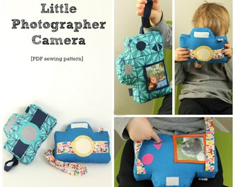 Little Photographer Camera -PDF Sewing Pattern for a Softie