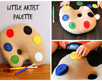 Little Artist Palette - PDF Sewing Pattern for a Softie/Puzzle