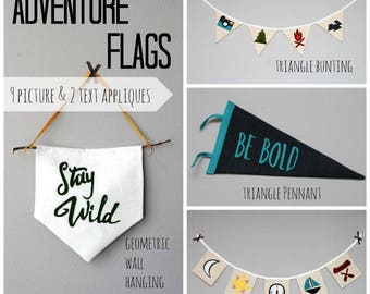 Adventure Flags- PDF Sewing Pattern for Decor