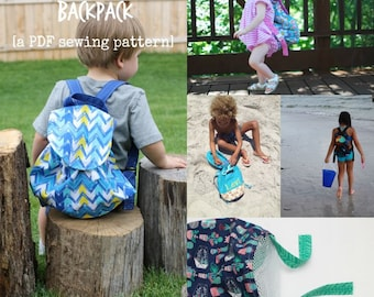 Little Collector Backpack - PDF Sewing Pattern for a Toddler Bag