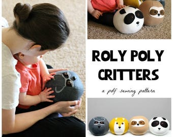 Roly Poly Critters- PDF Sewing Pattern for Softie Animal Balls