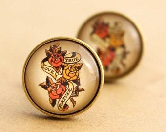 tattoo cufflinks tattoo art cufflinks rockabilly cufflinks tattoo art tattoo cufflinks Flower cufflinks tattoo cuff links tattoos #14