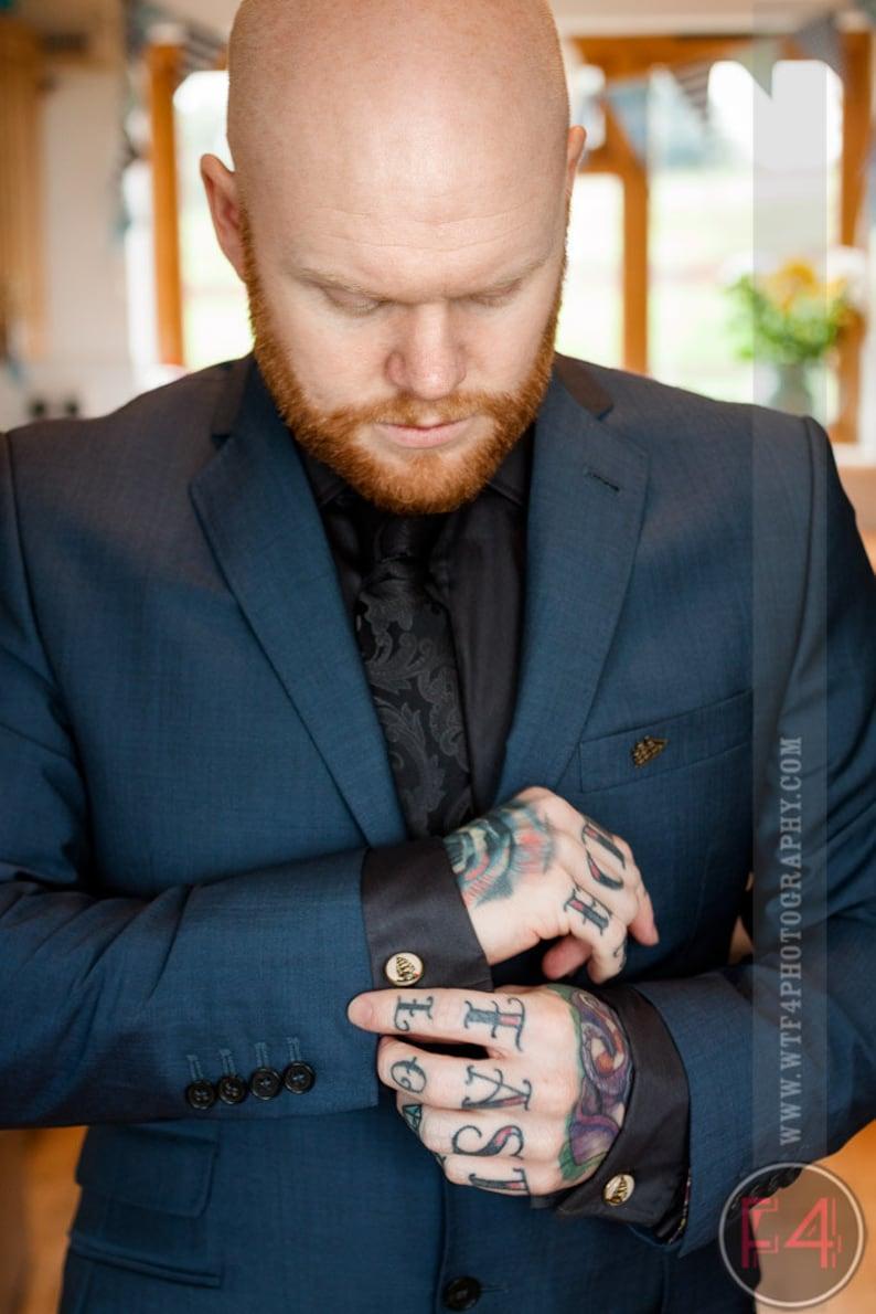 Sugarskull Rockabilly Cufflinks Steel Floral Skull Cufflinks Silver Groom Day of the Dead Tattoo Cuff links Sugar Skull Cufflinks
