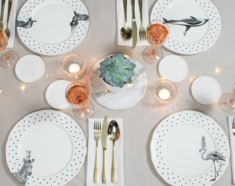 Merveilleux Animal Dinner Plate Set