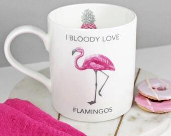 I Bloody Love Flamingos Mug