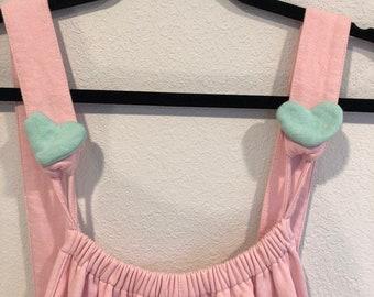 fb81a90b12 Pink Kawaii Fairy Kei Romper Onesie Overall