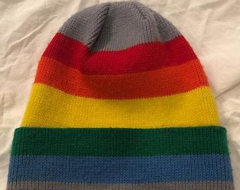 ac17b860846 70 s Rainbow Beanie. JasmineStreetVintage