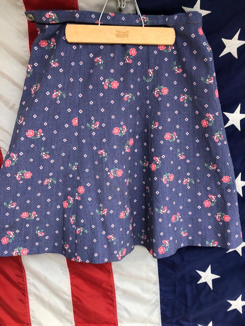 70s Roses Skirt