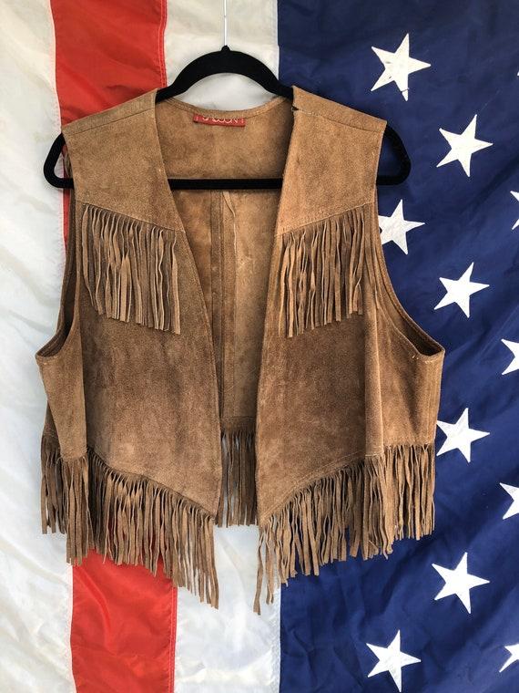 Ultimate 60s/70s Suede Fringe Vest