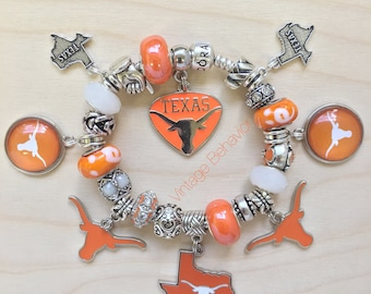 f5779eb8c sale thailand songthaew charm silver 9e9eb c214e; shopping authentic 925  pandora bracelet with european charms texas longhorns football theme ae84f  79317