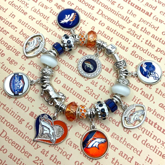 Authentic 925 Pandora Bracelet With European Denver Broncos Etsy