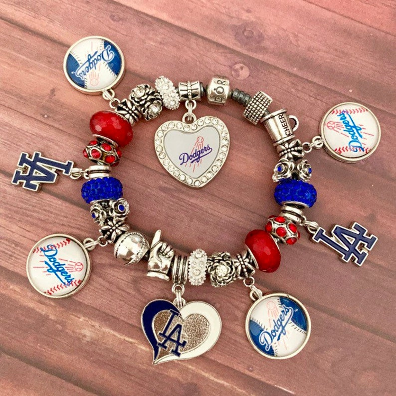 db78a40cf Authentic 925 PANDORA Bracelet with European Charms LA DODGERS | Etsy