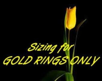 Gold Ring Sizing