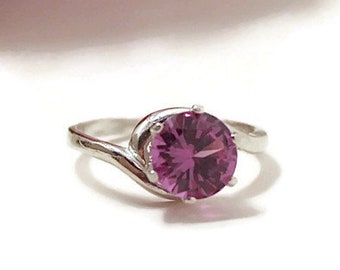 Alexandrite Ring, Color Change Stone, Sterling Silver Ring With Stone