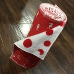 Set of 8 Reusable Unpaper Towels - nautical red with dotted backing