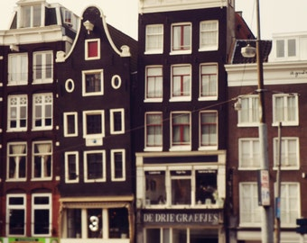 Travel Photography, Amsterdam, Architecture Europe, Urban Decor, Brown, City Art, Canal Houses, Crooked Houses