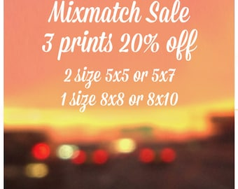 Mix Match SALE - 3 Prints of your choice - ONE (8x8 or 8x10) and TWO (5x5 or 5x7)