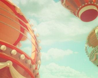 Ferris Wheel Print, Nursery Decor, Carnival Print, Colorful, Dreamy, Summer, Baby Room, Pastel, Whimsical