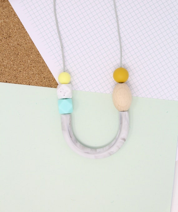 *Pick Your Size* Hexagon Natural Wood Beads DIY teething baby jewellery necklace