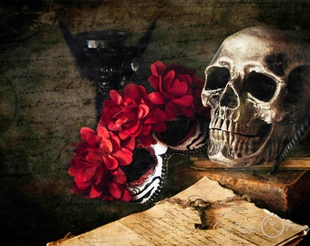 Masquerade Invitation, Vintage Style Photos, Still Life Photography, Photographic Art, Gothic, Fine Art Photography, Halloween, Wall Art