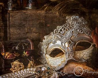 Masquerade, Still Life Photography, Masquerade Ball, Still Life Art, Photography, Photographic Art, Photo Artistry, Fine Art Photo, Wall Art