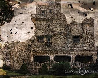 Haunted Castle Color Version, Castle Photography, Fine Art Photography, Halloween Photography, Landscape Photography, Wall Decor