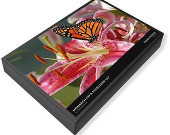 Monarch Butterfly and Stargazer Lily Puzzle, Monarch Butterfly Puzzle, Flower Puzzle, Butterfly Puzzle, Jigsaw Puzzle 1000, Butterfly Photo