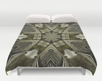 Crossroads Kaleidoscope Duvet Cover, Digital Art, King Duvet, Queen Duvet, Full Duvet, Bedroom Decor, Bedding, Photography