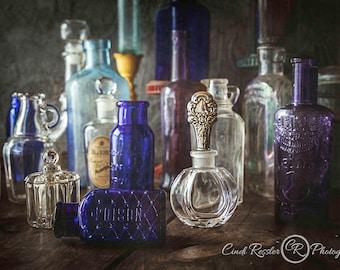 The Bottles, Still Life Photography, Vintage Bottles, Still Life Art, Photography, Photographic Art, Photo Artistry, Fine Art Photo,Wall Art