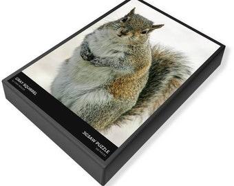 Gray Squirrel Puzzle, Squirrel Puzzle, jigsaw puzzle, jigsaw puzzle 1000, Family Time Puzzle, Puzzle Gift, Wildlife Puzzle, Photography