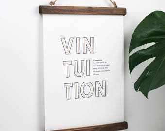 Wine Print - Wine Definition Print - Wine Poster - Typography Print - Wine Lover - Wine Drinker Gift - Wine Gift - Vintuition - Funny Slogan