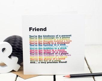 Speciale Vriend Kaart Beste Vriend Kaart Bff Card Vriend Etsy