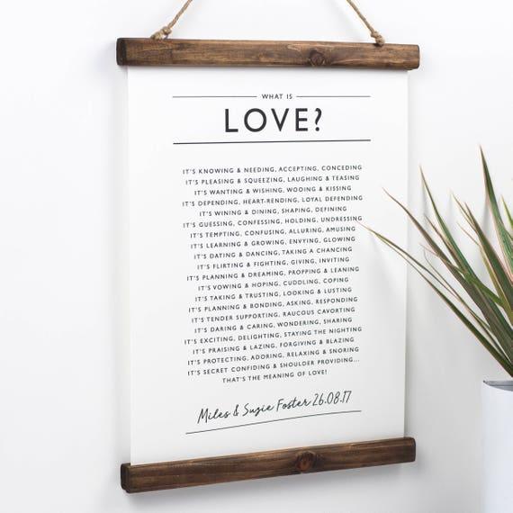Ce Qui Est Amour Poème La Saint Valentin Poème De Fiançailles Cadeau Cadeau Pour Amie Amour Personnalisé Cadeau Pour Amoureux Romantique