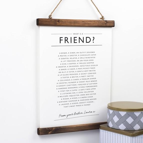 Ami Imprimer Poème Ami Ami Wall Art Meilleur Ami Ce Qui Est Un Ami Ami E Affiche Cadeau Pour Un Ami Ami Verse Personnalisé