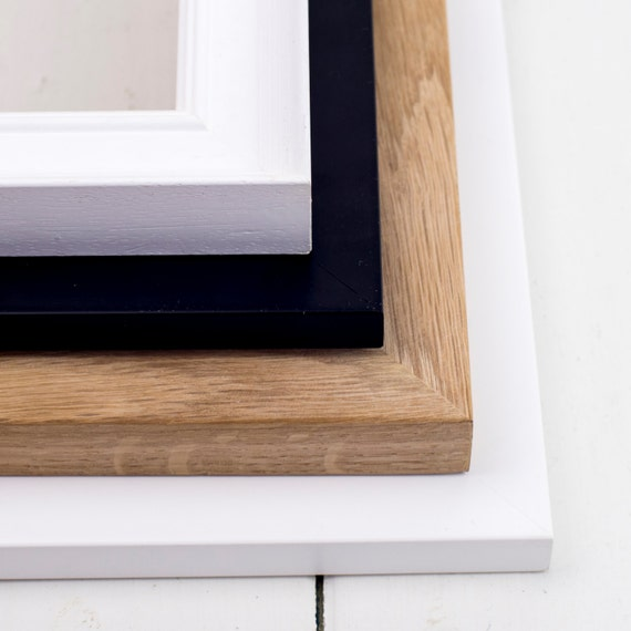 Frames Wood Picture Frame Handfinished A4 Size Bespoke Etsy