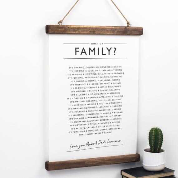 Familie Druck Familie Gedicht Personalisiertes Geschenk Für Eine Familie Familie Poster Geschenk Für Eine Familie Was Ist Eine Familie